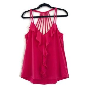 Socialite Hot Pink Strappy Sleeveless Top Medium